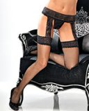 Fishnet Stockings with Attached Garter Belt