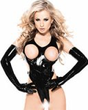 Gloss PVC Body with Open Crotch and Open Cups