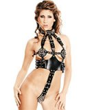 Leather Harness Body with Spikes - Size M