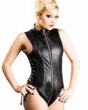 Leather Torturess Body with 2-Way Zipper