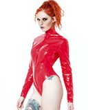 Gloss PVC Red Severity Body with Thru Zip