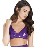 Gloss PVC Purple Seductress Bra
