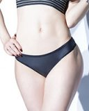 FOREVER MATTE Wet Look Thong - Black or Merlot