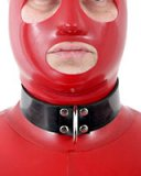 Heavy Rubber Bondage Collar with D-Ring - also as Lockable