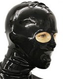 Glued Latex Hood with Translucent Eyes and Mouth Options