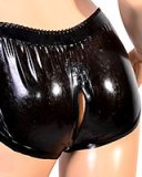 Ladies Latex Panty with 2-Way Crotch Zipper