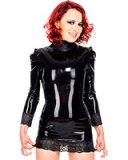 Glued Latex and Lace Mini Dress - up to 3XL