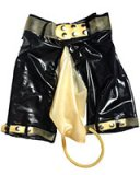 Ladies' Latex Bermudas with Piss Bag and Tube