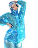 2 Piece PVC Hooded Bubble Gum Rain Suit -Unisex
