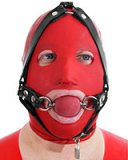 Thick Rubber Head Harness with Ball Gag - Also as Lockable