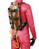 Heavy Rubber Backpack Harness with Enema Bag and Plug