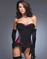 SATIN SEDUCTRESS Corset with G-String