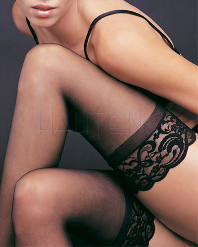 Sheer Stay Up Stockings with Lace Top