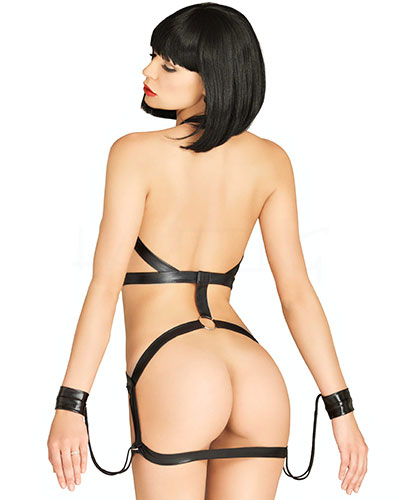Bondage Harness Dress im Wetlook
