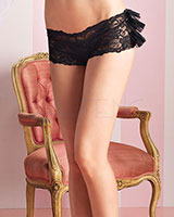 Lace Panty with Ruffled Back