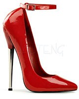 "Patent Leather Pumps with Ankle Strap - 6¼"" Heel"