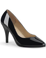 "Wide Patent Leather Pumps - 4"" Heel"
