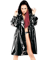 Gloss PVC Coat with Hood