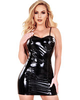 Gloss PVC Dress Dress with Small Straps