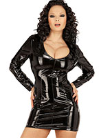 Long Sleeved Gloss PVC Dress