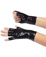 Gloss PVC Gloves without Fingertips