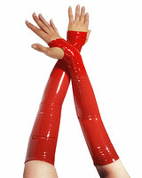 Long Fingerless Gloss PVC Gloves