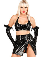 Gloss PVC Wrap-Around Skirt