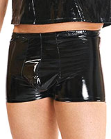 Gloss PVC Boxer Shorts with Pouch