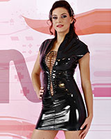 Gloss PVC Dress Front Laced