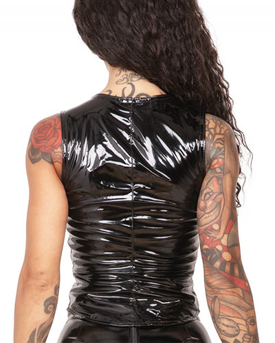 Gloss PVC Zip Top - Up to Size 6XL