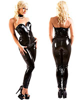 Black Gloss PVC Leggy Leggings