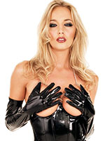 Gloss PVC Opera Gloves