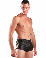 Men's Leatherette Shorts