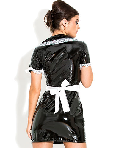 French Maids Dress aus Lack