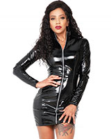 Black Gloss PVC Discipline Dress - up to Size 6XL