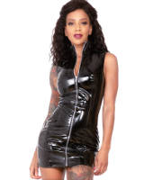 Gloss PVC Black Samantha Dress - up to Size 6XL