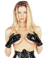 Black Gloss PVC Gloves
