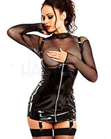 Black Gloss PVC Cupless Corselette