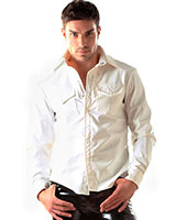 Gloss PVC White Shirt