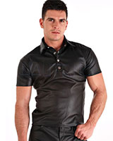 Men's Leatherette Polo Shirt