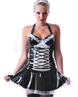 Gloss PVC Maid To Serve Dress and Cap