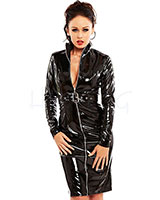 Gloss PVC Black Mistress Dress