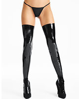 Black Gloss PVC Stockings
