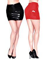 Latex Mini Skirt - up to 2XL