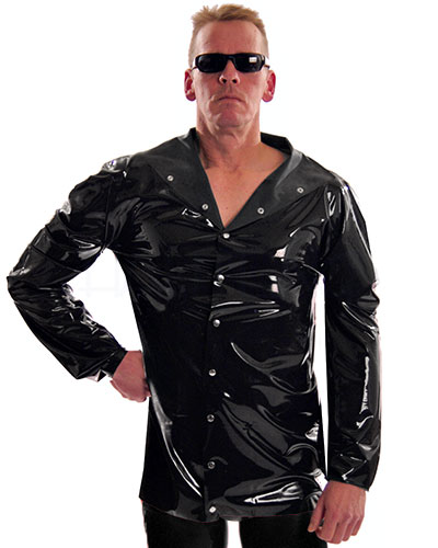 Latex Shirt with Snap Fasteners