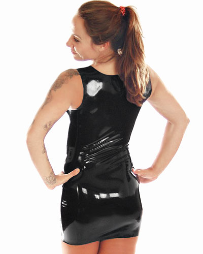 Latex Mini Dress with Zip