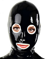 Latex Hood with Round Eyes