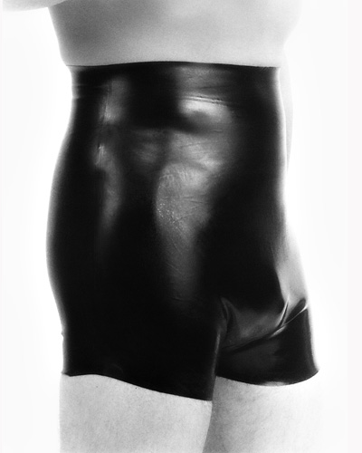 Latex Shorts with Anal Sheath