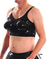 BH aus Latex mit aufblasbaren Brüsten