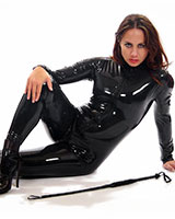 Rubber Catsuit with 3-Way Frot Zipper - Optional with breast Zip